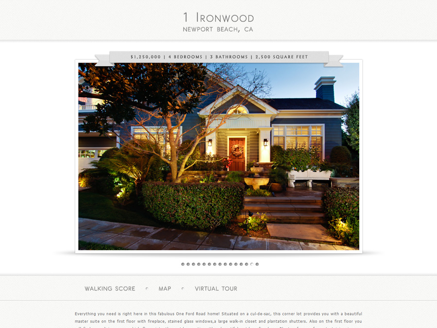 Real Estate Photographer Page BMB DEZINES - Real estate photography website template